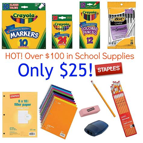 How to get Cheap School Supplies at Staples | As low as 17